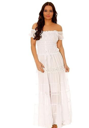 dmarkevous -  Vestito  - flare - Donna bianco Taglia unica