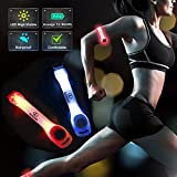 K KERNOWO LED Safety Light for Runner with 2 Modes (Solid & Flashing) Fashion Waterproof Running Reflective Armband
