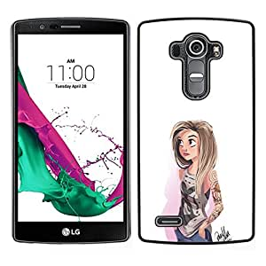 All Phone Most Case / Oferta Especial Duro Teléfono Inteligente PC Cáscara Funda Cubierta de proteccion Caso / Hard Case LG G4 // Emo Girl