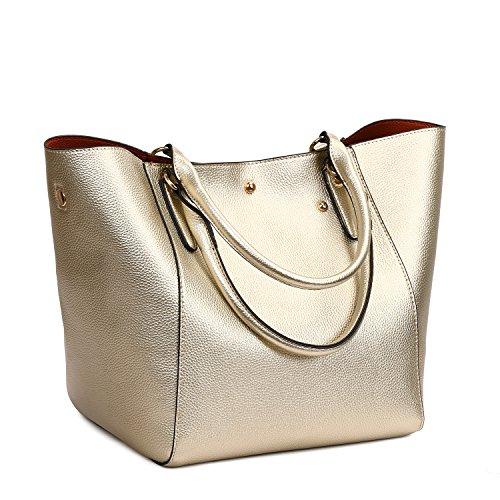 Women Top Bags Bags Leather Large Shoulder Bag Bag Bag SIFINI Gold Shopping Tote Handbags Handle Clutches Capacity Ladies 6qrxHR6