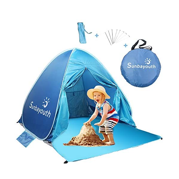 SUNBA-YOUTH-Beach-Tent-Beach-Shade-Anti-UV-Instant-Portable-Tent-Sun-Shelter-Pop-Up-Baby-Beach-Tent-for-2-3-Person