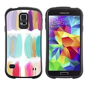 """Hypernova Slim Fit Dual Barniz Protector Caso Case Funda Para Samsung Galaxy S5 [Pintura Flores polaco minimalista Petróleo""""]"""