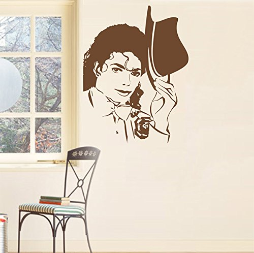 Pop Decors PT-0068-Vb Beautiful Wall Decal, Michael Jackson