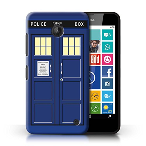 STUFF4 Phone Case / Cover for Nokia Lumia 635 / Blue Design / Tardis Phone Box Art - Phone For 635 Girls Nokia Cases