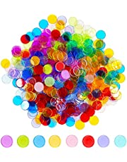 Hebayy Transparent 8 Color Clear Bingo Counting Chip Plastic Markers