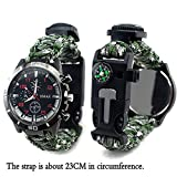 The Yan He Multi Function Outdoor Living Chain Flint fire, Compass, Wrist Watch, Thermometer, First aid Whistle and Knife/Scraper