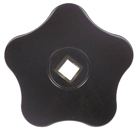 Expobar - Mango de estrella para cafetera Office-Leva (diámetro de 50 mm, longitud de 18 mm, plástico, para eje de 6 x 6 mm), color negro: Amazon.es: Industria, empresas y ciencia