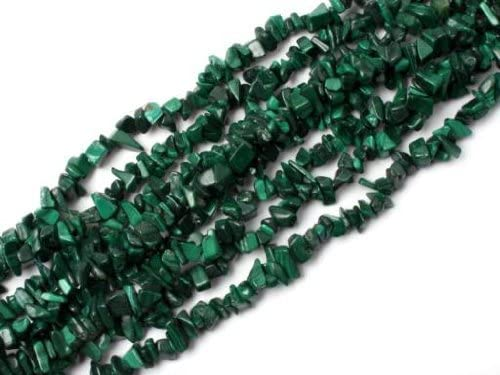 50pcs Handcrafts Stones Malachite Loose Beads DIY Crafts Supply Rock Chips