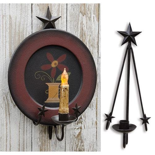 - Heart of America Star Hanging Plate & Taper Holder