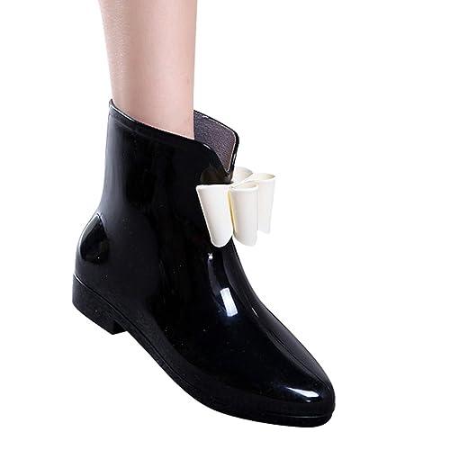 Xinwcang Botas de Lluvia Impermeables para Mujer Casual Boot de Agua Antideslizante Lluvia Zapatos: Amazon.es: Zapatos y complementos