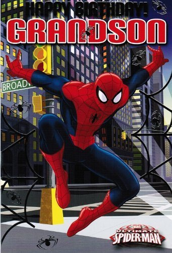 Ultimate Spiderman Birthday Card