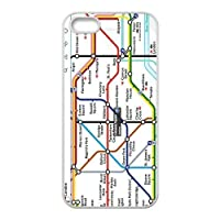 Turbo Delivery LLC - London Subway Tube map-Rubber Case for Apple iPhone 7 (4.7 Inch), Made and Shipped from USA and delivered within 8 Days. Includes screen protector. Style 14