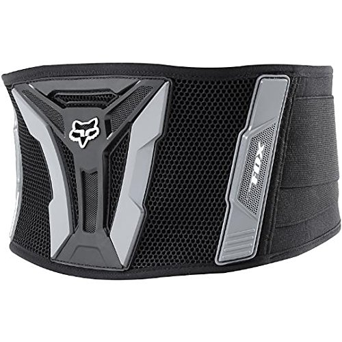 Fox Racing Turbo Adult Kidney Belt MotoX/Off-Road/Dirt Bike Motorcycle Body Armor - Black/Grey / X-Large
