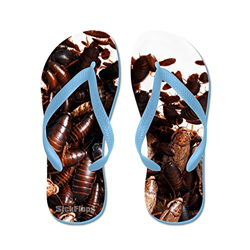 Cafepress Sickflops - Infestación De Cucarachas - Chanclas, Sandalias Thong Divertidas, Sandalias De Playa Caribbean Blue
