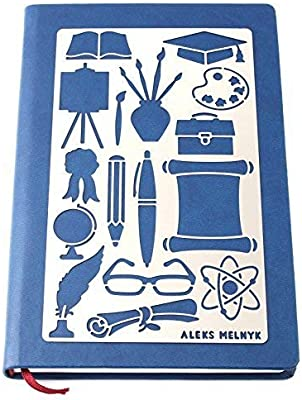 Pyrography and Engraving//Scrapbooking//Crafting//DIY Aleks Melnyk #19 Metal Journal Stencil//Education//Stainless Steel Stencil 1 PCS//Template Tool for Wood Burning