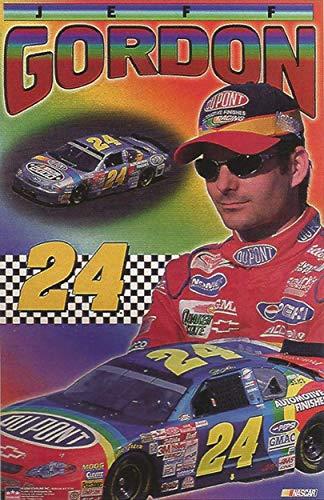Buyartforless Jeff Gordon 24 NASCAR Collage 2000 34x22.5 Racing Art Print Poster (Jeff Gordon Wall)
