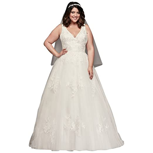 1892588ce8 Mikado and Tulle Plus Size Ball Gown Wedding Dress Style 9WG3877 at ...