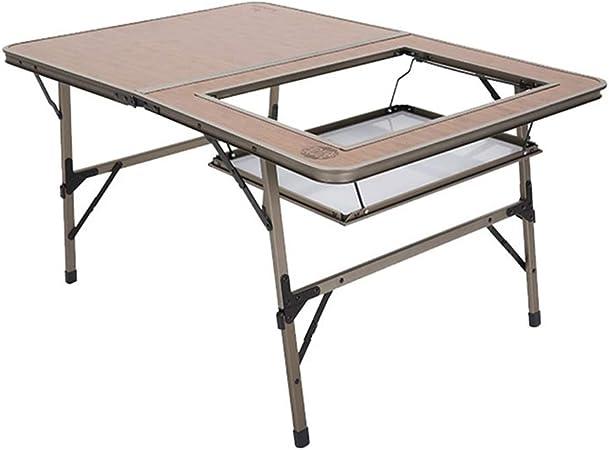 Vimele En Plein Air Grand Bambou Like Sauvage Table Pliante