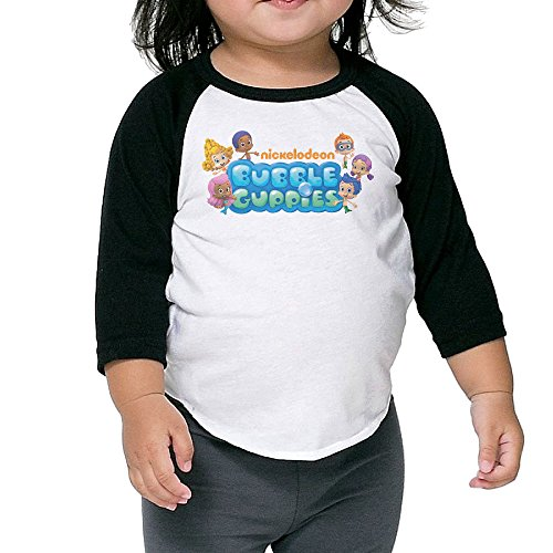 Bubble Guppies TV Show Child 3/4 Sleeve Baseball Tee For Kids -