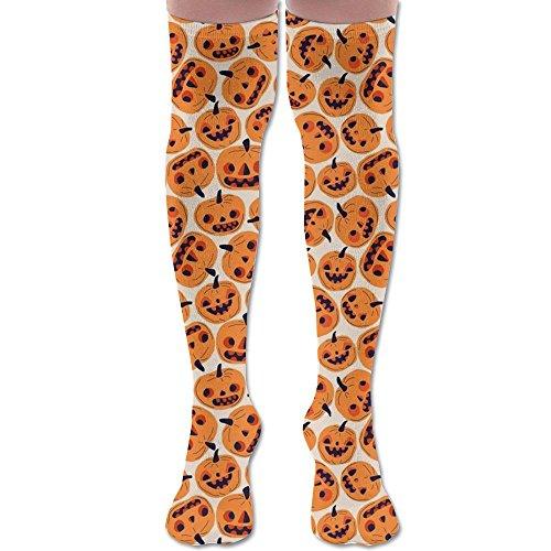 (LOIOI67 Halloween Pumpkins Upgraded Knee High Graduated Compression Socks for Women and Men - Best Medical,Nursing,Travel & Flight Socks - Running &)