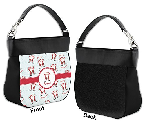 Trim Genuine Front w Personalized Leather Hobo Claus Purse Santa zqCHvwH