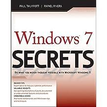 Windows 7 Secrets by Paul Thurrott (2009-09-08)