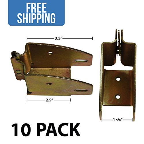 Wood Beam Socket - 10 PACK - Shippers Supplies - Great Shelf Brackets for Building Decking in your Trailers, Trucks, Vans, SUVs and More!