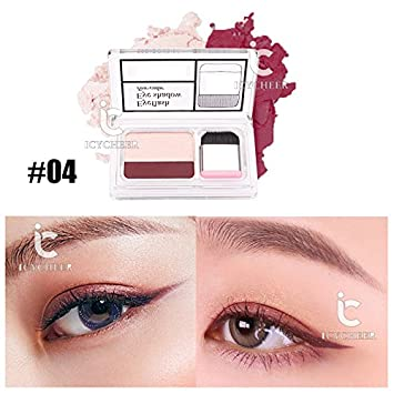 Icycheer Makeup Magazine Lazy Eyeshadow Stamp Holiday Edition Eye Shadow Double Color Shimmer Palette Long Lasting Natual Nude Beauty & Health Beauty Essentials