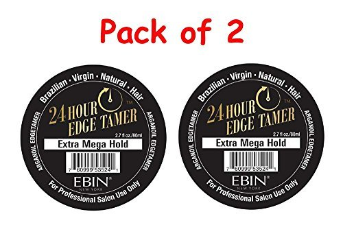 [Pack of Two] Ebin New York 24 Hour Edge Tamer / Extra Mega Hold 2.7 ounces with Eyebrow Razor