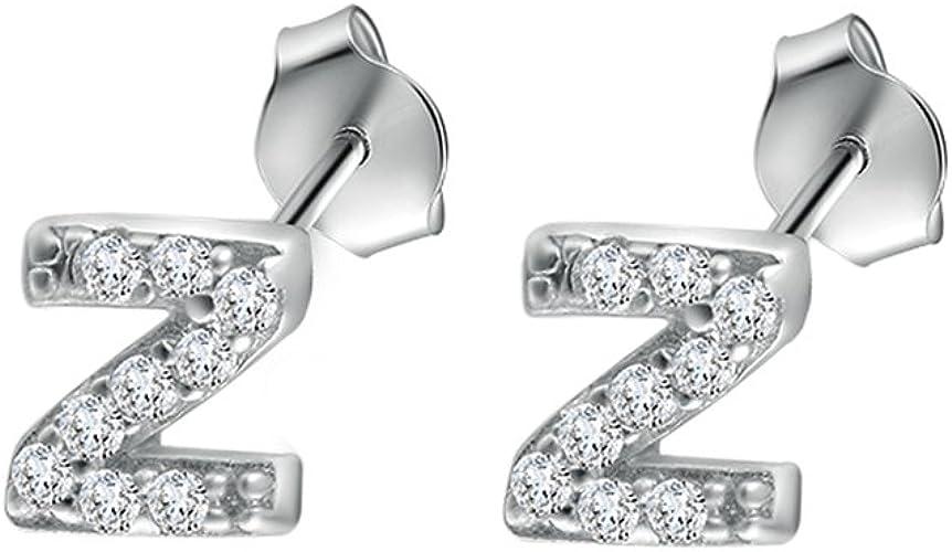 Simple V-letter Stud 925 Silver Women Earrings Jewelry Shining Earring ZO