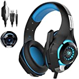 Gaming Headset|RedHoney Xbox Gaming Headset|Stereo PS4 Headset|LED Gaming Headphones With Microphone for PS4/PS3 Xbox One PSP Netendo DS PC Tablet (Blue)