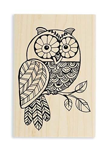 Foam Stamps Patterns (Stampendous Wood Stamp, Pen Pattern Owl)