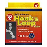 HYGLOSS PRODUCTS INC. HOOK & LOOP FASTENER 5/8 COINS 100 (Set of 6)