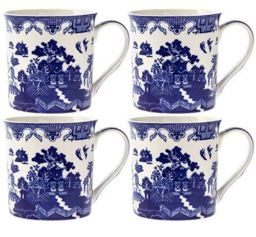 Lesser & Pavey LP93652 Set of 4 Blue Willow Mugs ()