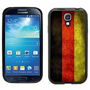 Samsung Galaxy S4 SIIII Black Rubber Silicone Case - German National Flag, WWI,WWII,