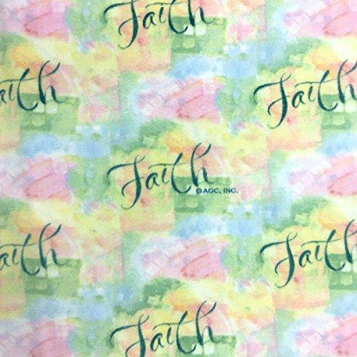 Inspirational Faith Print Fleece Fabric - 60