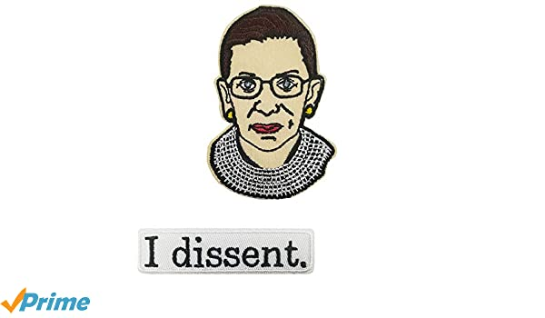 I Dissent Embroidered Iron on Patch Sew on Emblem