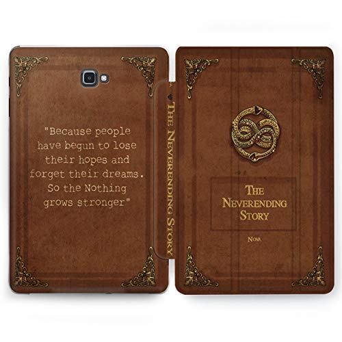 Wonder Wild Vintage Book Samsung Galaxy Tab S4 S2 S3 A E Smart Stand Case 2015 2016 2017 2018 Tablet Cover 8 9.6 9.7 10 10.1 10.5 Inch Clear Design Vintage Retro Book Case Brown Bronze Quote Cute