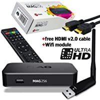 MAG 256 Set-Top-Box BRAND NEW MAG256 with WIFI 150 MBps HDMI cable US Power