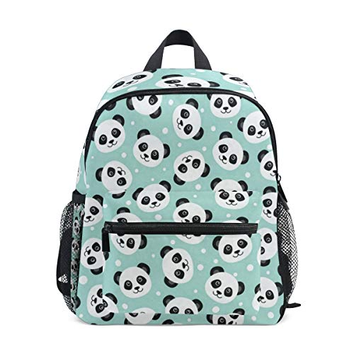 Pandas Head School Backpack For Girls Kids Kindergarten School Bags Child Bookbag