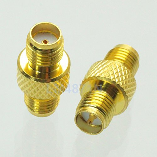 2pcs Adapter RP.SMA female plug to SMA female jack RF connector straight reticulated