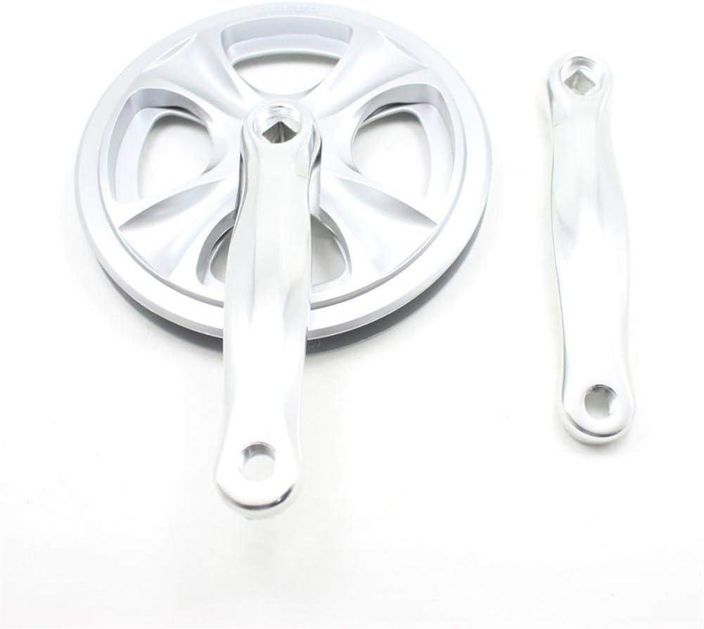DPZCBH Manivelle V/éLo V/élo 8 Vitesses Chainwheel en Alliage daluminium manivelle monovitesse 46 Dents VTT V/élo Pi/èces Accessoires v/élo