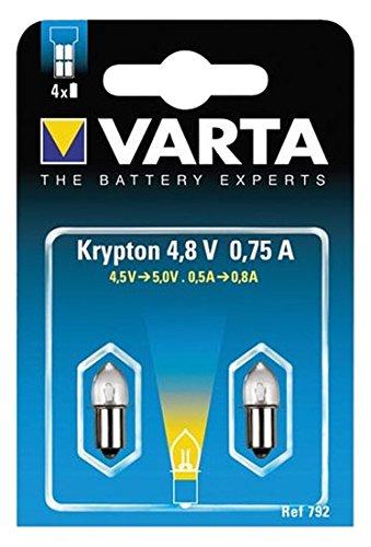 Varta 792 Glü hlampe Stecksockel 4, 8V 0, 75A 2er Pack Varta Consumer Batteries 792000402 Lampen
