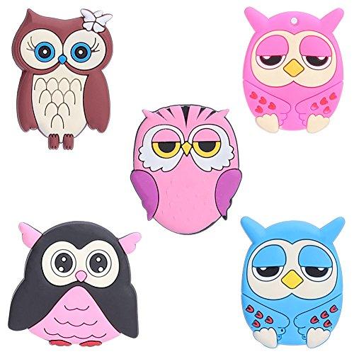 Beautyonline 5Pcs Cartoon Owl Fridge Magnets Whiteboard Sticker Housewarming Gift Home Decorations