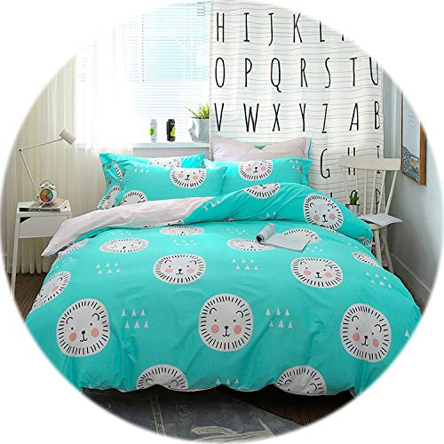 Memoirs---Leaf Print Floral Bedding Set Bed Linen Duvet Cover Kids Adult Brief Style Princess Home Textile Bedclothes Bedspread,Color 26,Queen Size ()