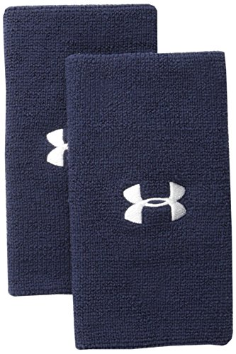 """Under Armour 6"""" Performance Wristband, Midnight Navy/White, One Size"""