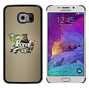 "For Samsung Galaxy S6 EDGE / SM-G925(NOT FOR S6) , S-type Explosión de graffiti Arte Abstracto"" - Arte & diseño plástico duro Fundas Cover Cubre Hard Case Cover"