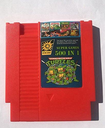 500 in 1 Nes Game Cartridge Video Game Multi 72 pin 8 bit Super Games Turtles