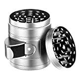 4 pieces Tobacco Spice Herb Weed Grinder grinder for dry herb vaporizer weed accessories with easy access window,cute pocket size(Sliver)