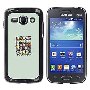 Samsung Galaxy Ace 3 - Metal de aluminio y de plástico duro Caja del teléfono - Negro - Cute Wizards